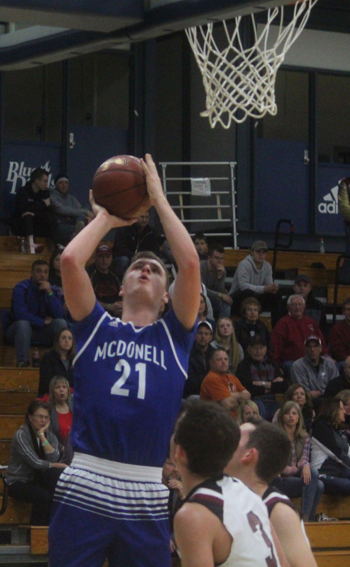 McDonell boys basketball vs Prescott at UW-Stout 12-9-17