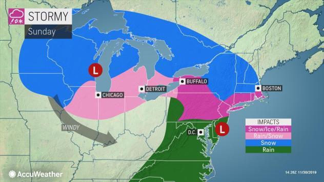 Sunday forecast by AccuWeather