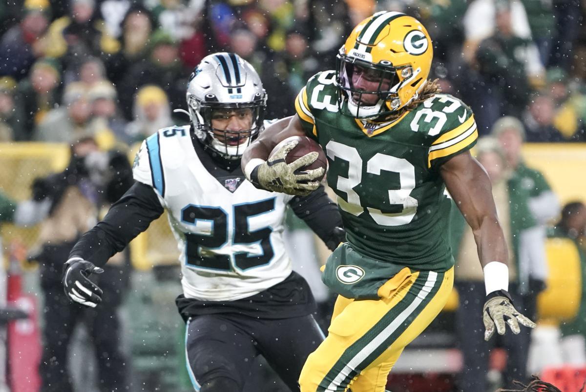 Aaron Jones - Packers vs. Panthers