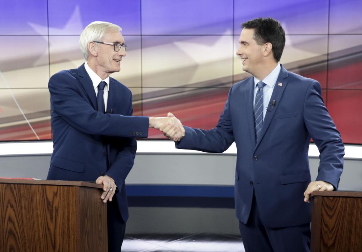 Gubernatorial debate handshake - A1