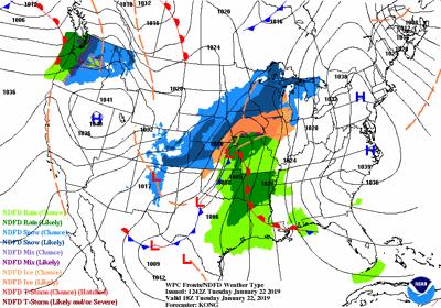 NWS precipitation 1-22-19