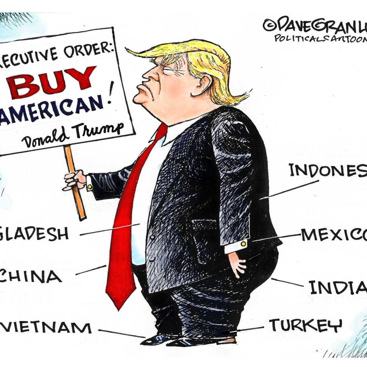 Trump Doesn T Buy American In Dave Granlund S Latest Political Cartoon Opinion Chippewa Com