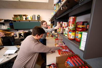 Helping Hand food pantry UW-Stout