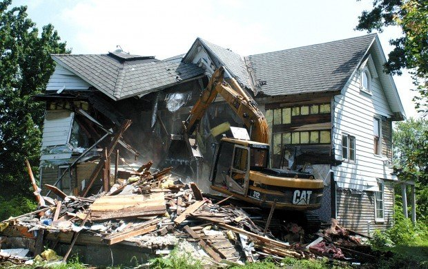 Unlivable House Torn Down To Make Room For New Home