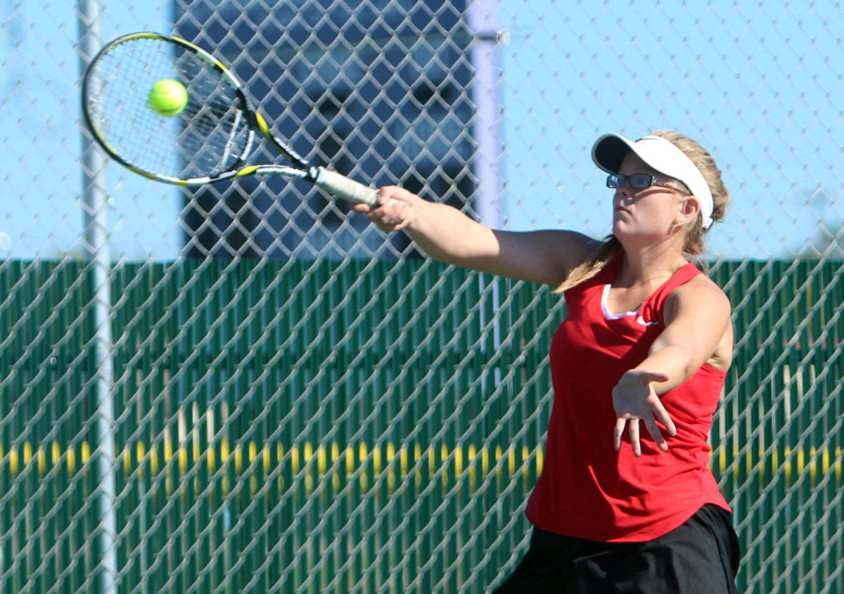 Chi-Hi girls tennis at Eau Claire Memorial subsectional, 10-3-16