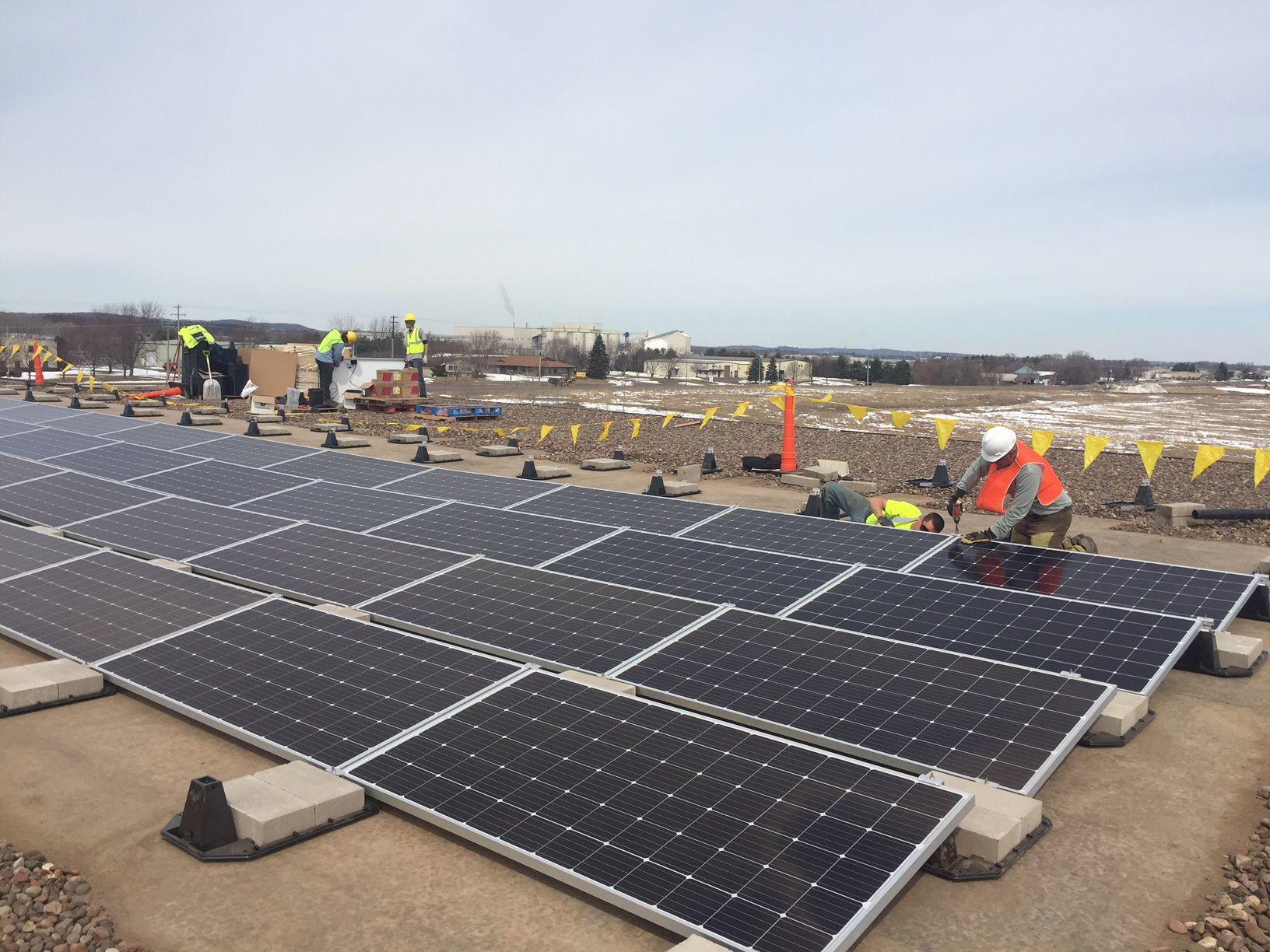 Solar panels at General Beverage