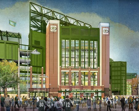 Packers stadium expansion, south end zone gate