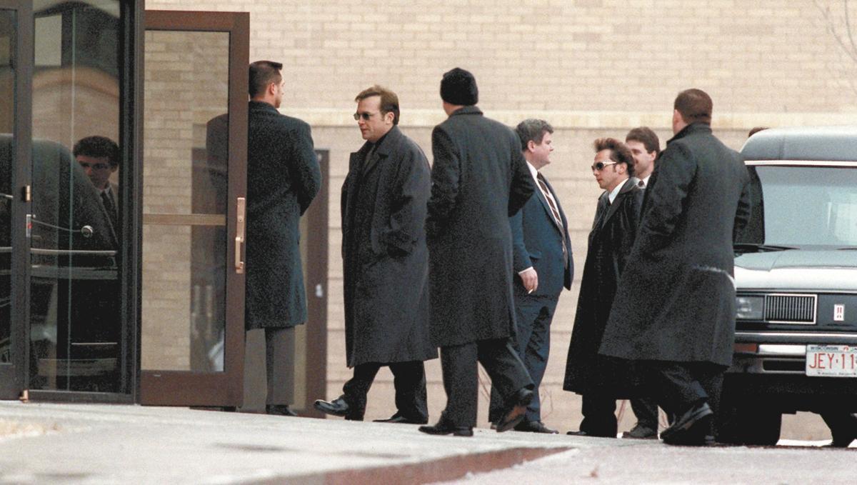 Outside Farley's funeral