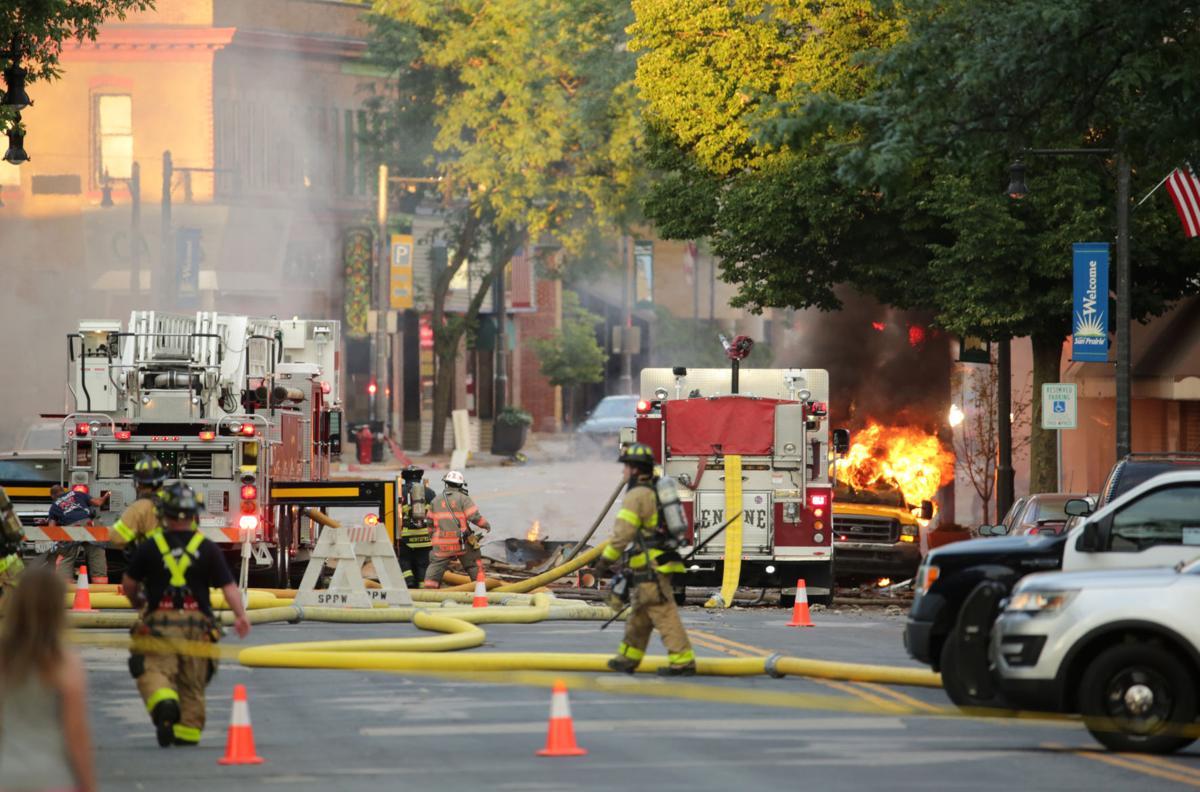 Firefighters battle blaze from Sun Prairie gas leak explosion