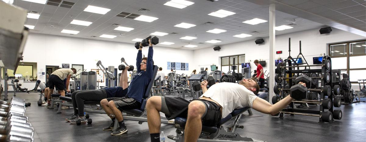 Working Out UW-Stout rec center sports and recreation complex fitness center