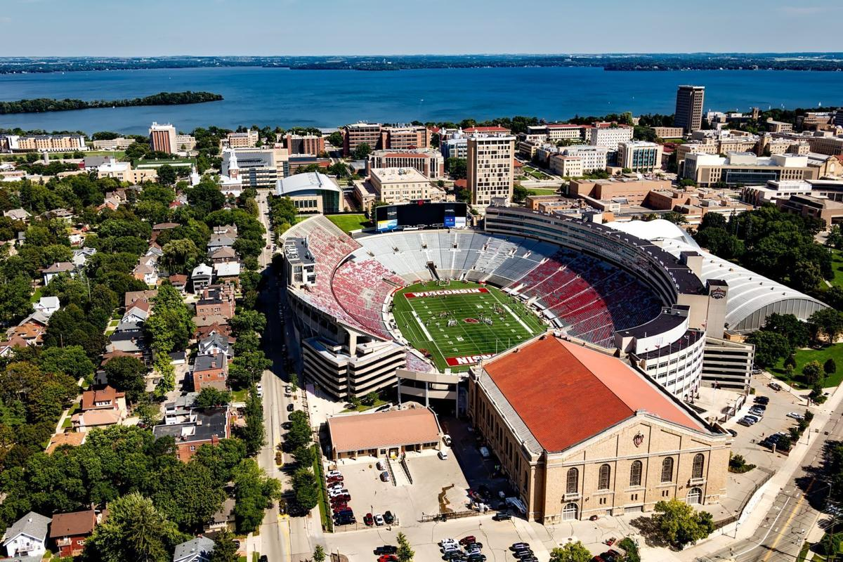 madison wisconsin stock image file photo camp randall aerial (copy)