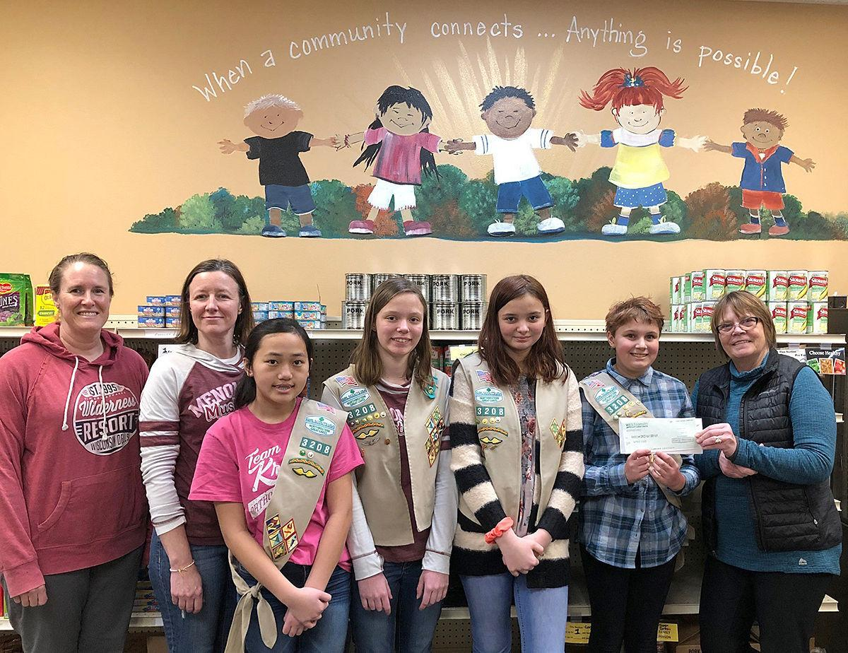 Girl Scouts donate to Stepping Stones