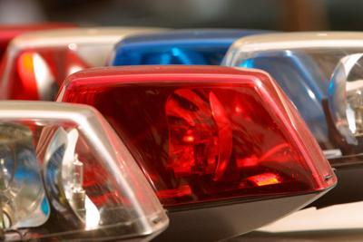 Police squad car lights RWB, generic file photo