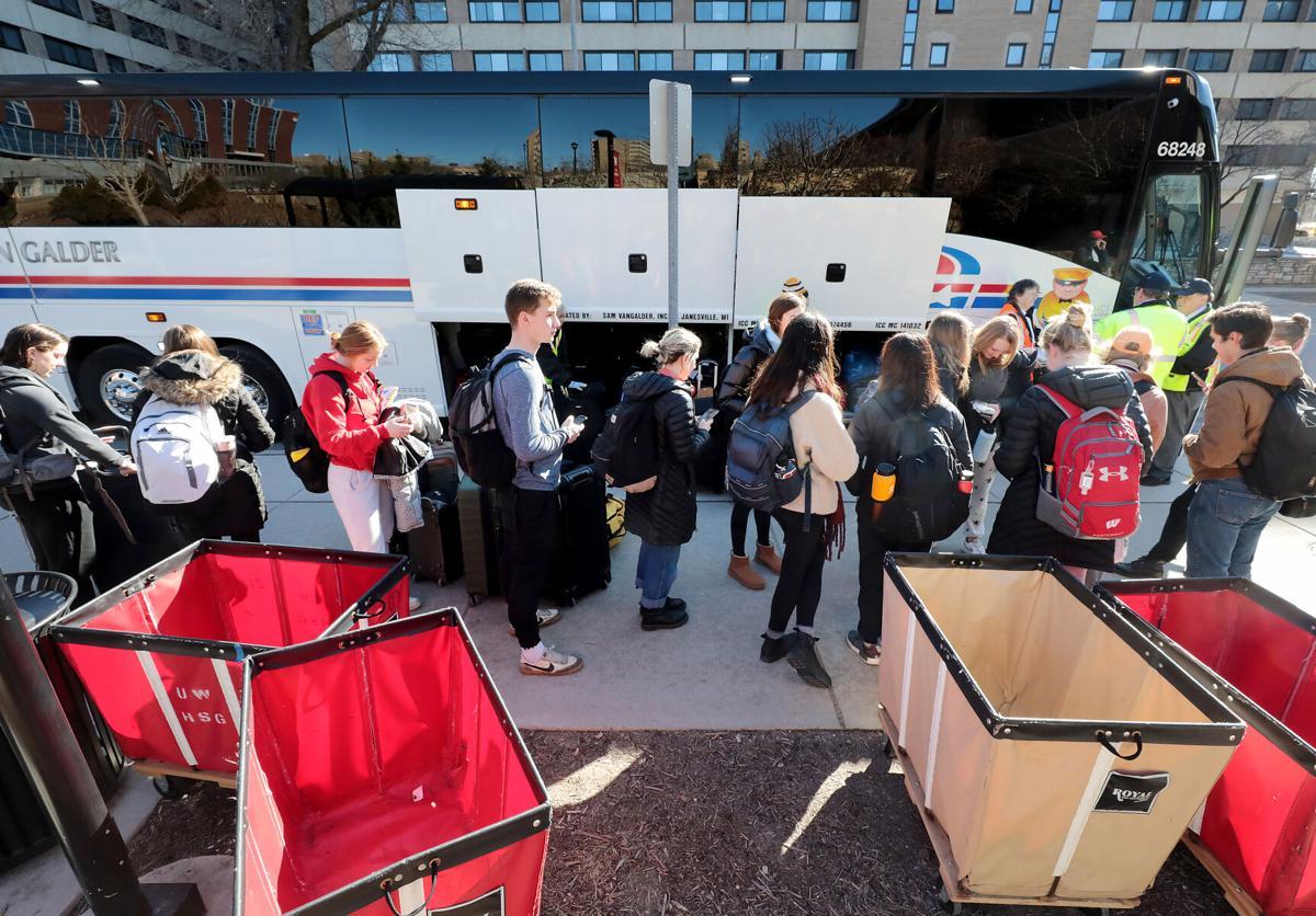 UW-Madison students leave for spring break
