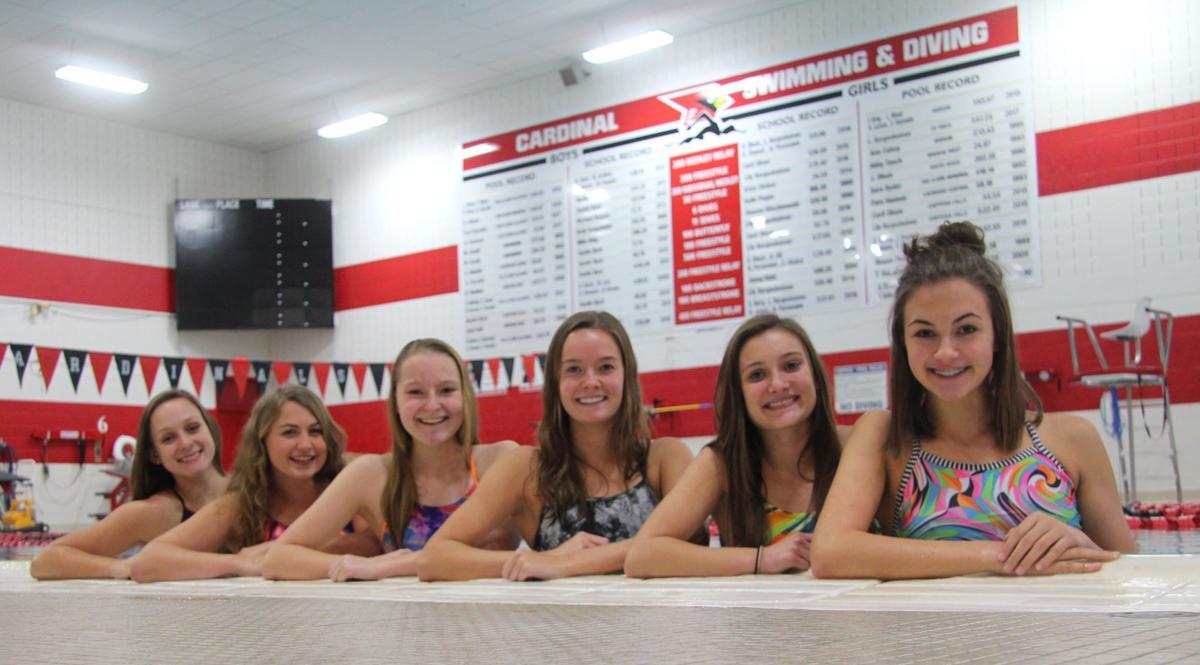 Chi-Hi girls 400-yard freestyle relay swim team