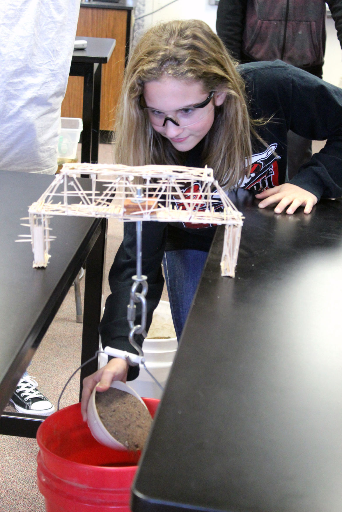 Cfms Students Challenged To Build Toothpick Bridges Local
