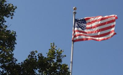 Chippewa County Courthouse U.S. Flag