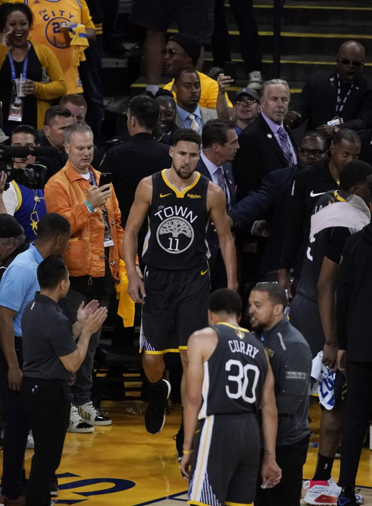 best website dbcee 094cb Klay Thompson sustains torn left ACL in Warriors' Game 6 ...