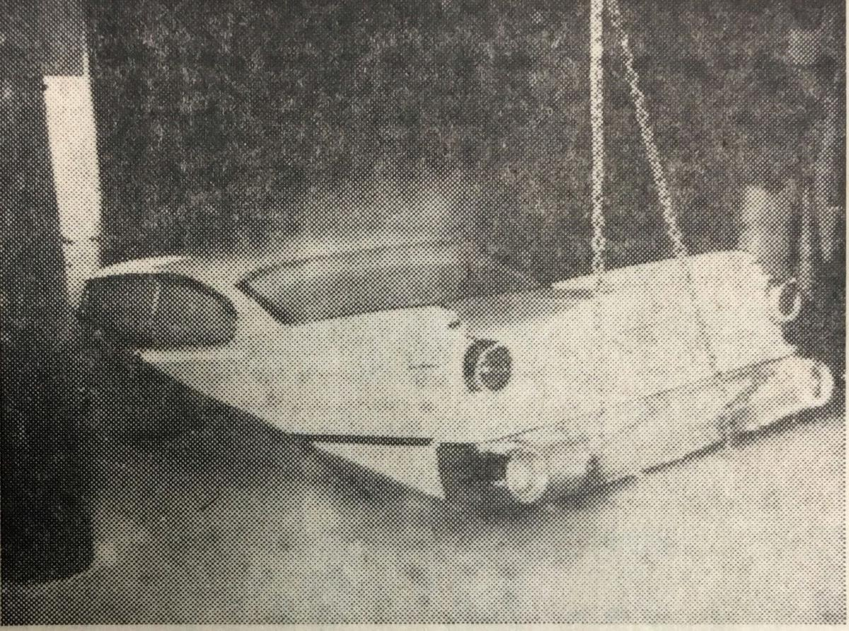 Car trapped in ice on Lake Menomin