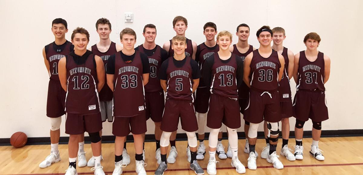 The 2017-18 Menomonie boys' basketball team