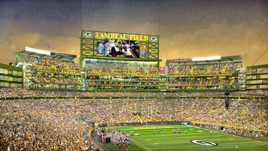 Packers stadium expansion, south end zone seats
