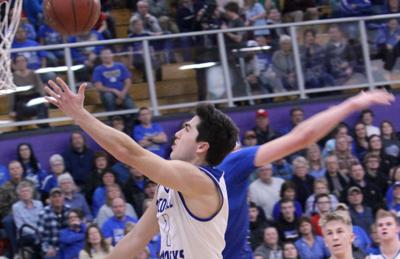 Athens vs McDonell boys basketball at Eau Claire Memorial 3-7-19