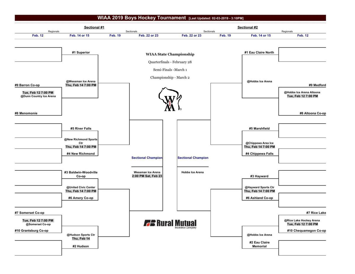 Boys Hockey Sectional Pairings