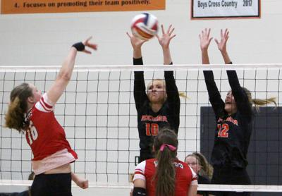 Colfax at Bloomer volleyball 10-8-19