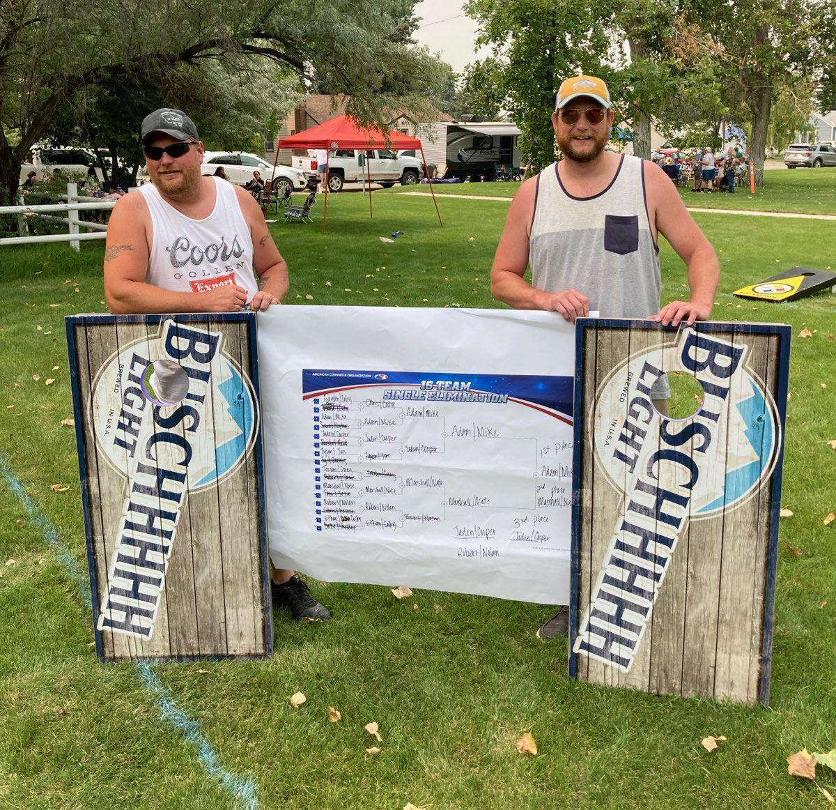 Corn-hole winners