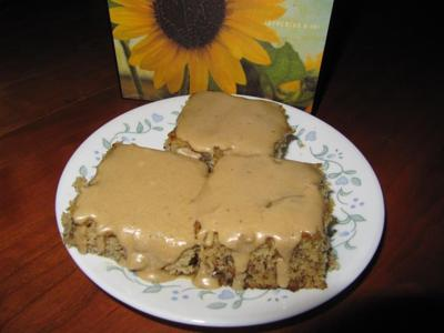 Homemade banana bars