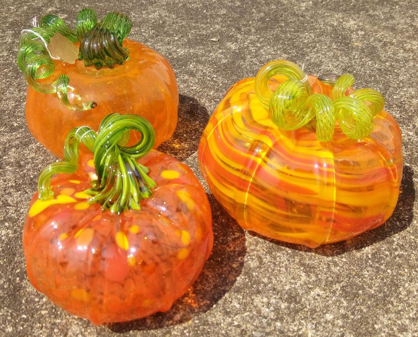 Glass pumpkin creations