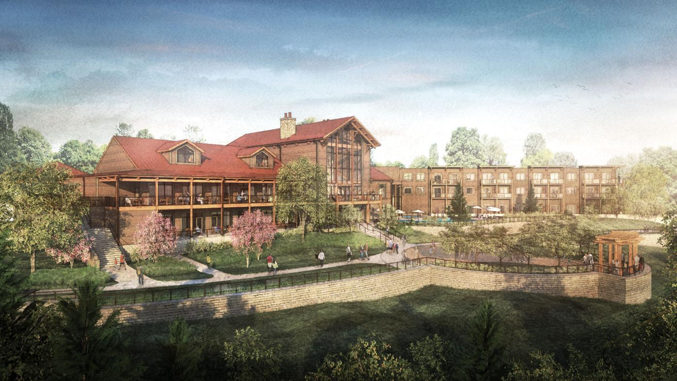 Hocking Hills Lodge rendering