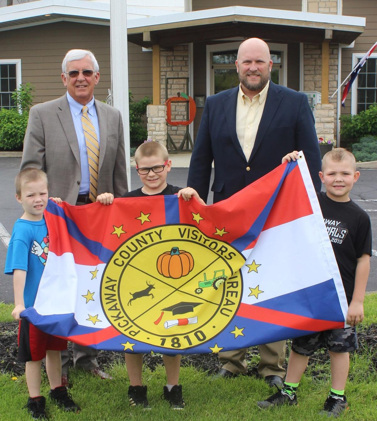 Newly designed Pickaway County Flag now flies high
