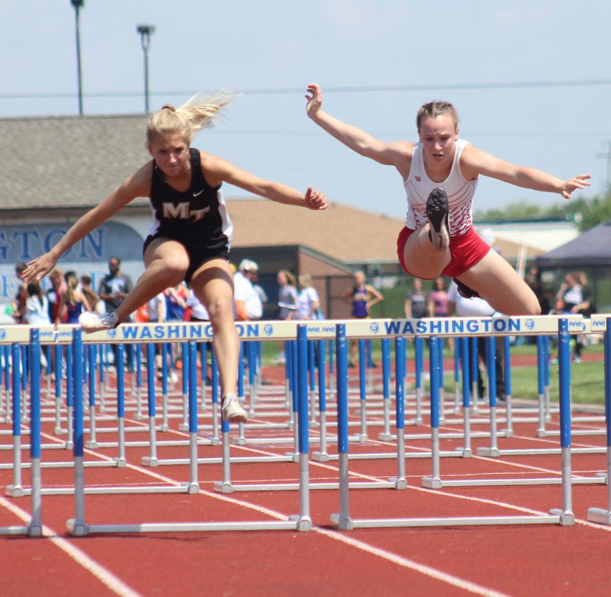 Braves take second at district meet