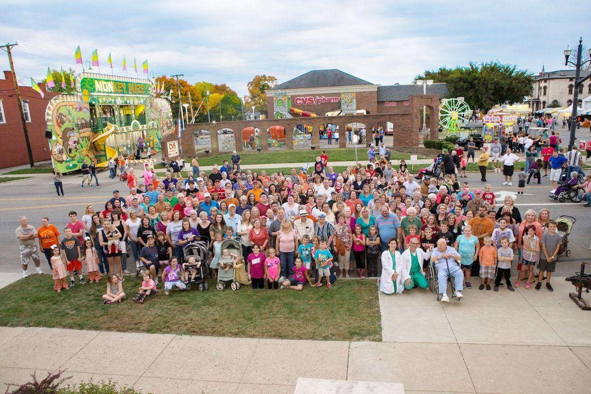 berger babies gather at pumpkin show for reunion community