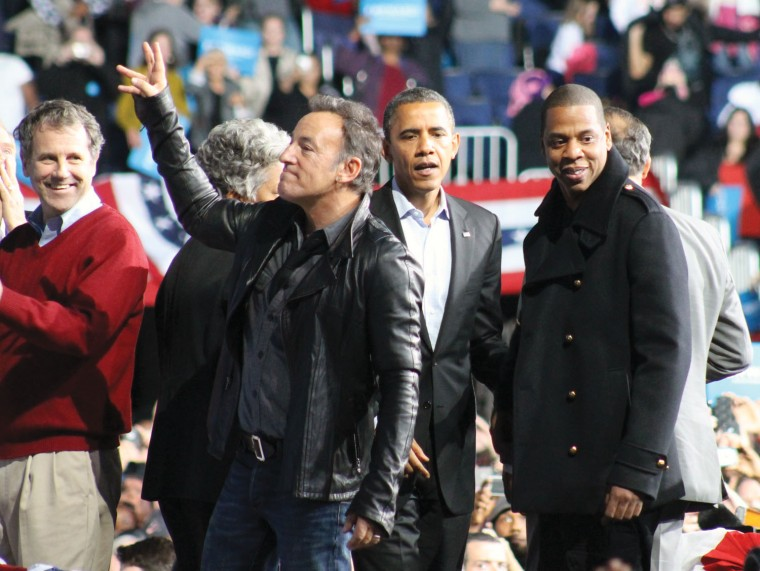 Celebrity support for Barack Obama in Hollywood