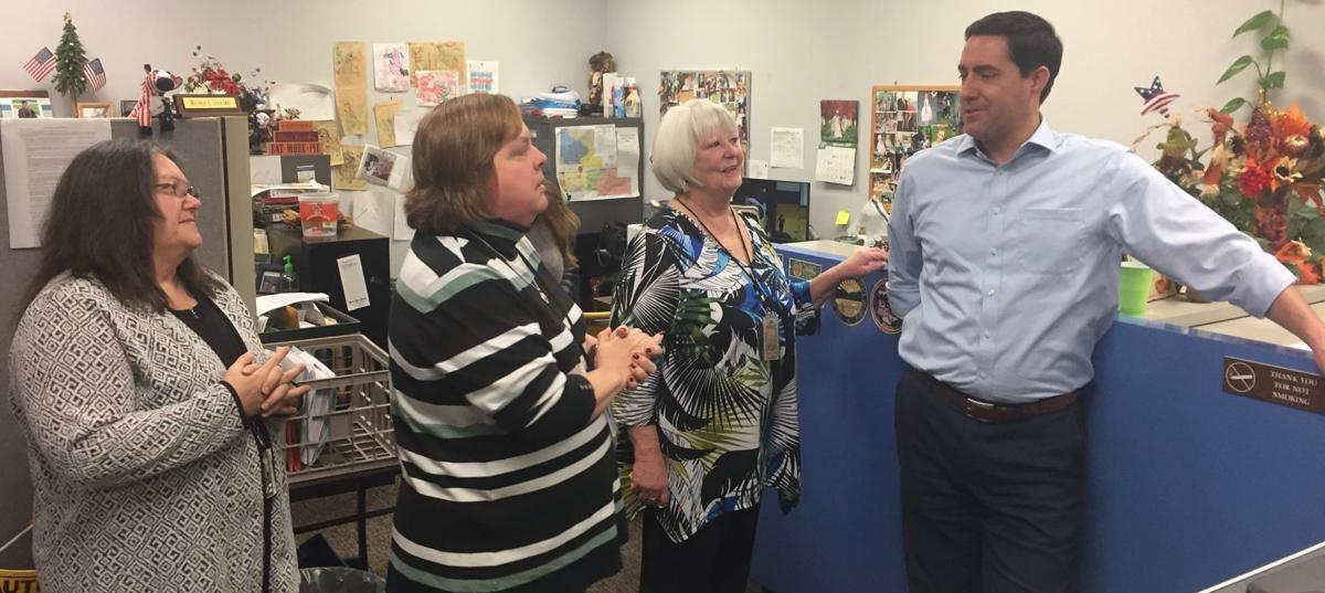 LaRose speaks with BOE staff