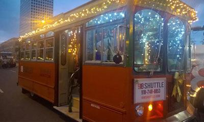 Travel in style on Claremore's Holiday Trolley