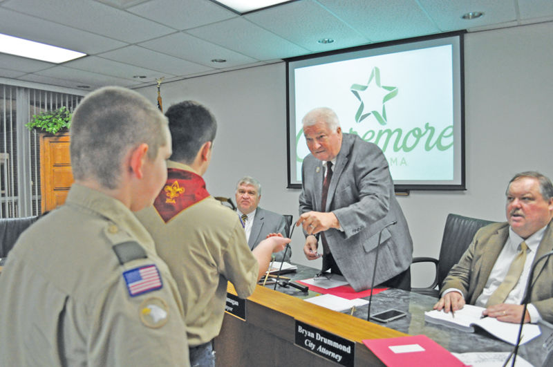 City discusses parking study, welcomes scouts