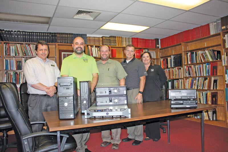 RCBBank donates computer equipment to gun museum