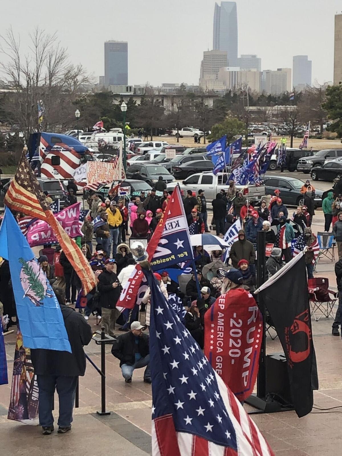 Oklahoma Capitol protest photo 1