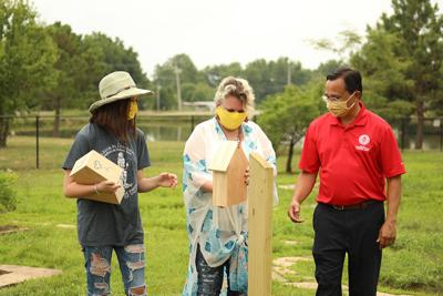 Cherokee Nation adds 16 bee pollinator homes to heirloom garden