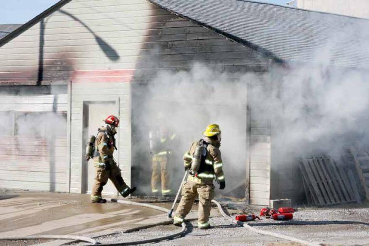 Melton building fire