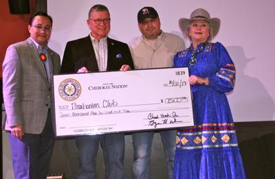 Pocahontas Club receives Cherokee Nation donation