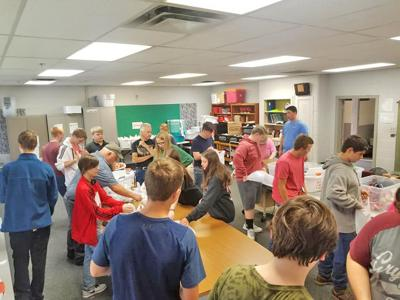 Claremore FFA packs over 500 bags for Food 4 Kids