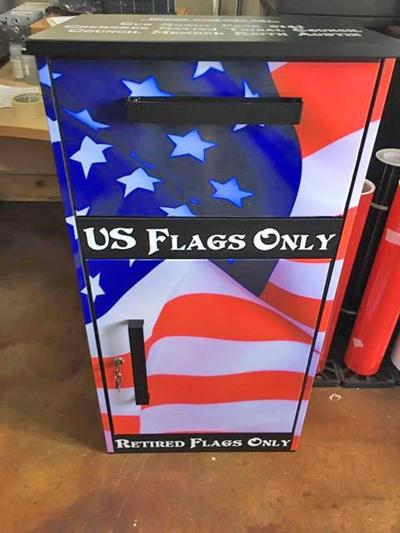 Scouts complete flag retirement bin project