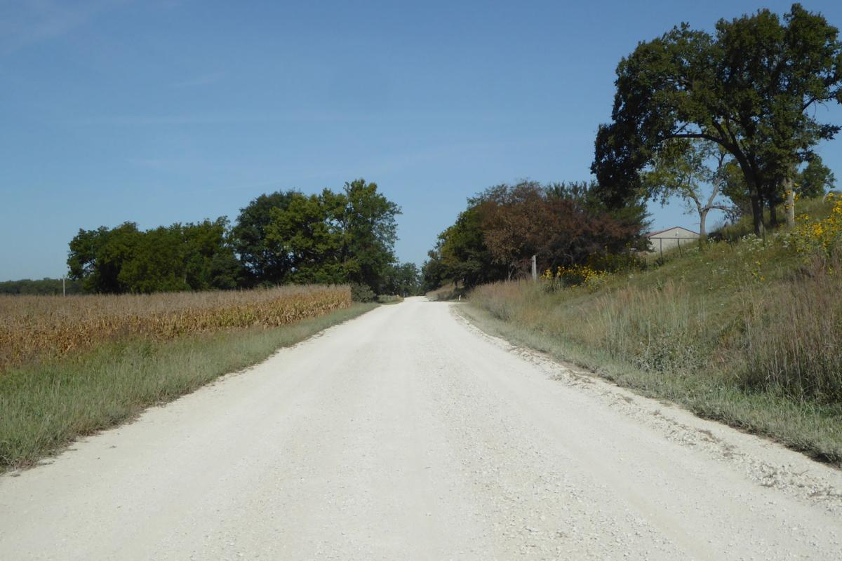 9_-_This_dusty_gravel_road_overlays_the_Oregon_Trail_route_north_of_St._Marys,_Kansas._The_road_leads_to_a_nature_park_and_the_Vieux_Cemetery..JPG