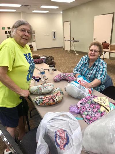 Night Timers OHCE host workshop making mastectomy pillows for breast cancer patients