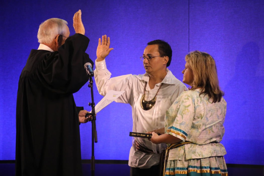 Cherokee Nation Principal Chief Hoskin, Deputy Chief Warner, Tribal Councilors sworn into office