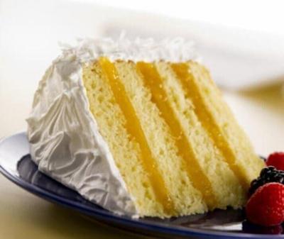 Lemon mango cake
